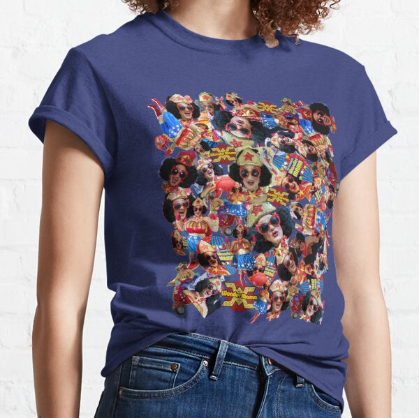 Fabulous Wonder Mama Collage Design Classic T-Shirt