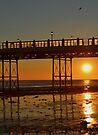 Sunset under the pier by Sara Sadler