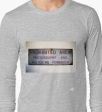 No Photography or Sketching  Long Sleeve T-Shirt