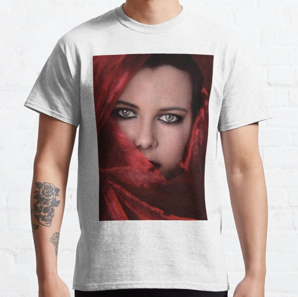 Beautiful woman face wrapped in head scarf Classic T-Shirt