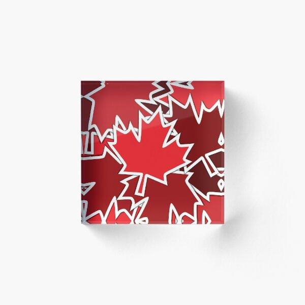 Patriotic Canada Maple Leaf Acrylic Block