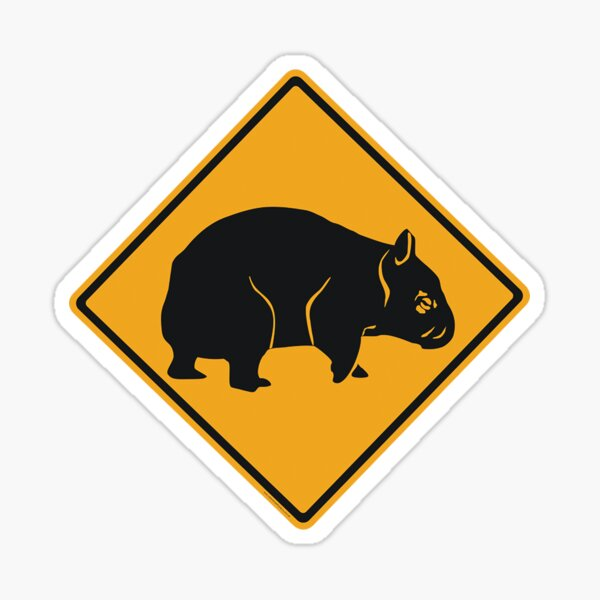 Wombat Crossing Sticker