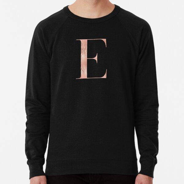 Rose Gold Glitter Monogram E Lightweight Sweatshirt