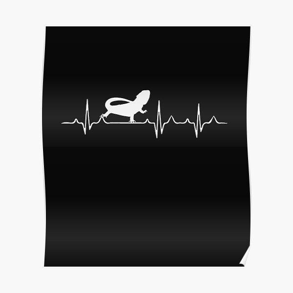 Bearded Dragon Heartbeat Poster