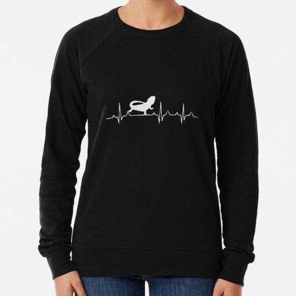 Bearded Dragon Heartbeat Lightweight Sweatshirt
