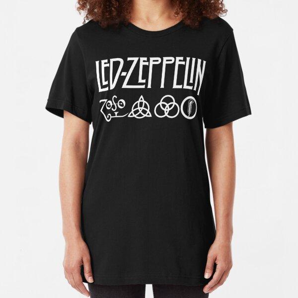 white zeppelin Slim Fit T-Shirt