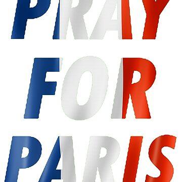 Pray For Paris France Flag by luckynewbie