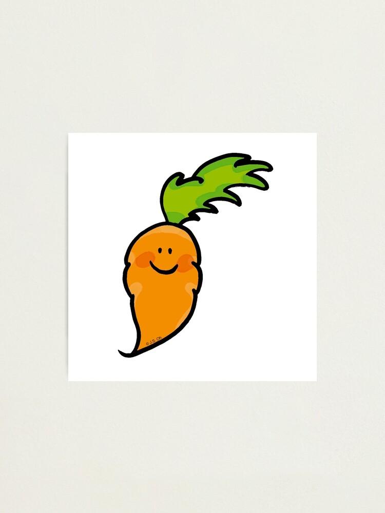 Sweet Veggie Carrot Cartoon Photographic Print By Cutecartoon Redbubble