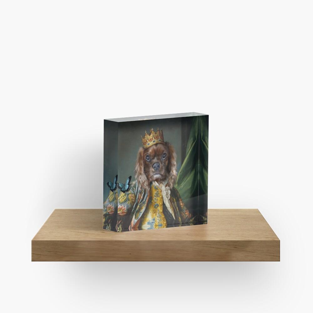 King Charles Spaniel Dog Portrait - Homes Acrylic Block