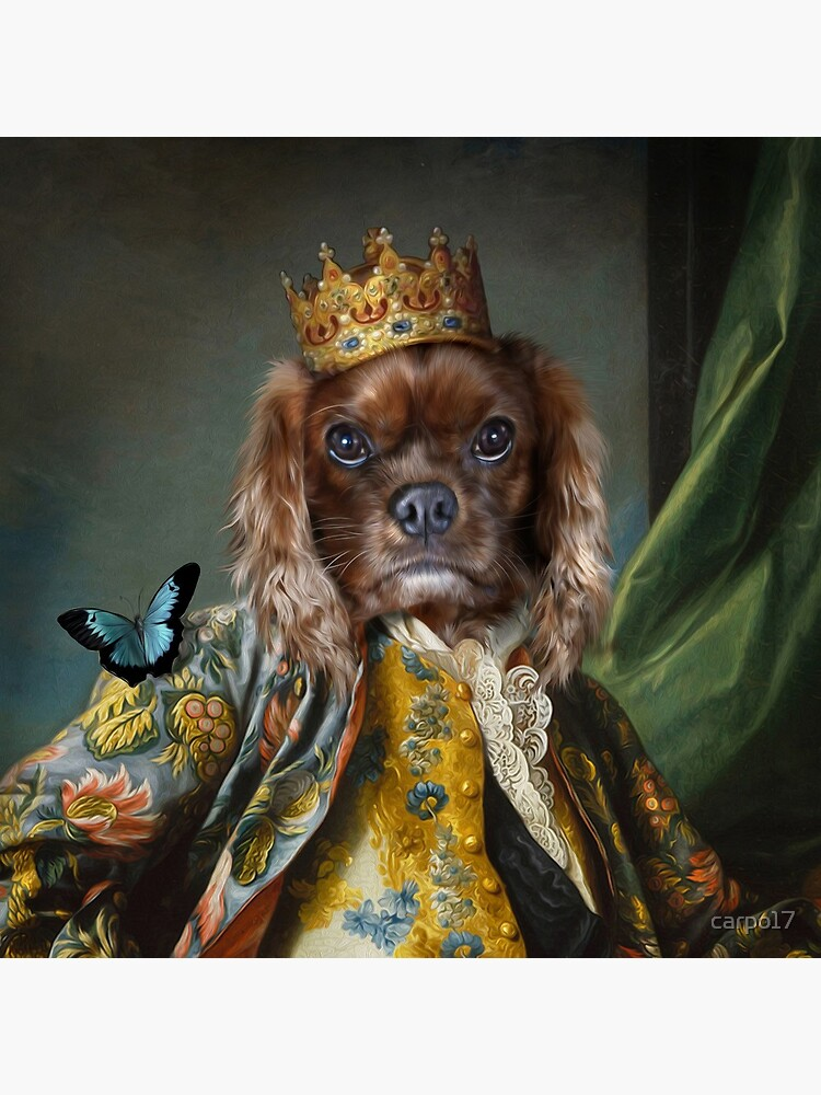 King Charles Spaniel Dog Portrait - Homes by carpo17