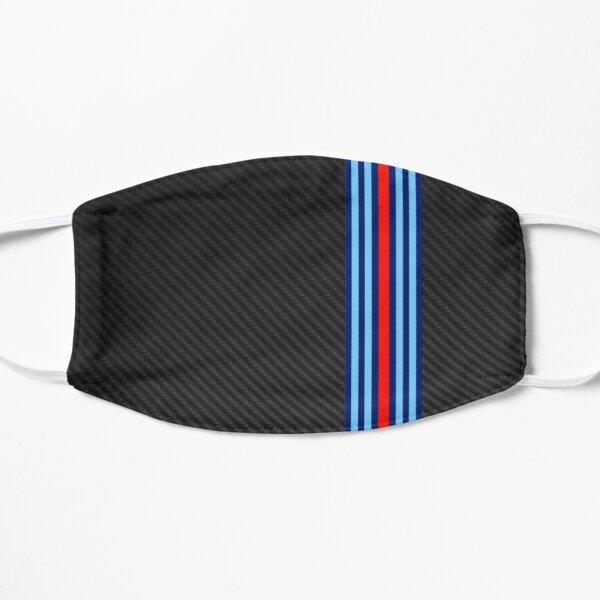 Carbon Fiber Martini Design Racing Stripes Mask
