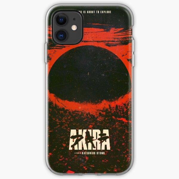 Akira cyberpunk city explosion poster iPhone Soft Case