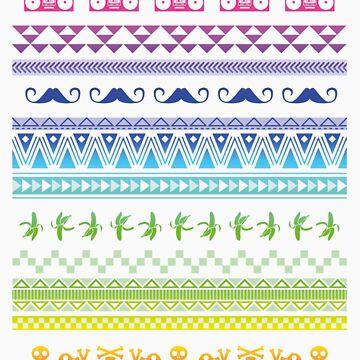 Hipster patterns by grafiskanstalt