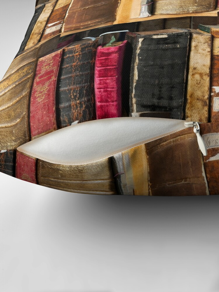 Alternate view of Bookworm Vintage books in bookshelf Floor Pillow