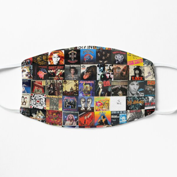 Rock Vinyl Collage  Flat Mask