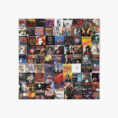 Rock Vinyl Collage  Art Board Print