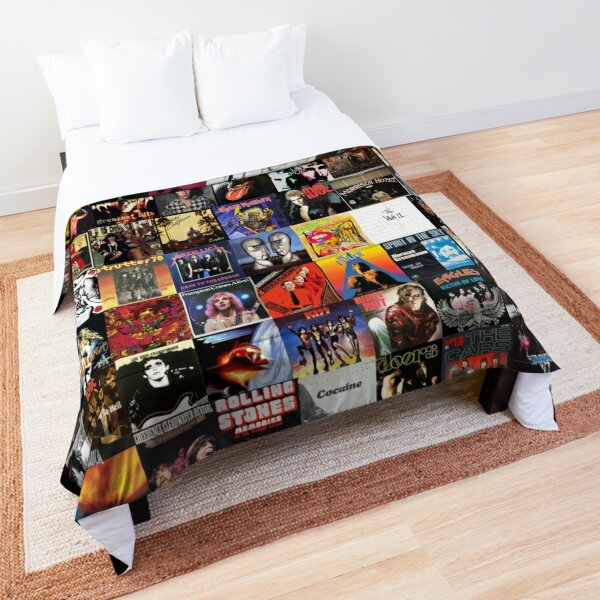 Rock Vinyl Collage  Comforter