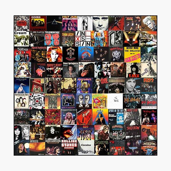 Rock Vinyl Collage  Photographic Print