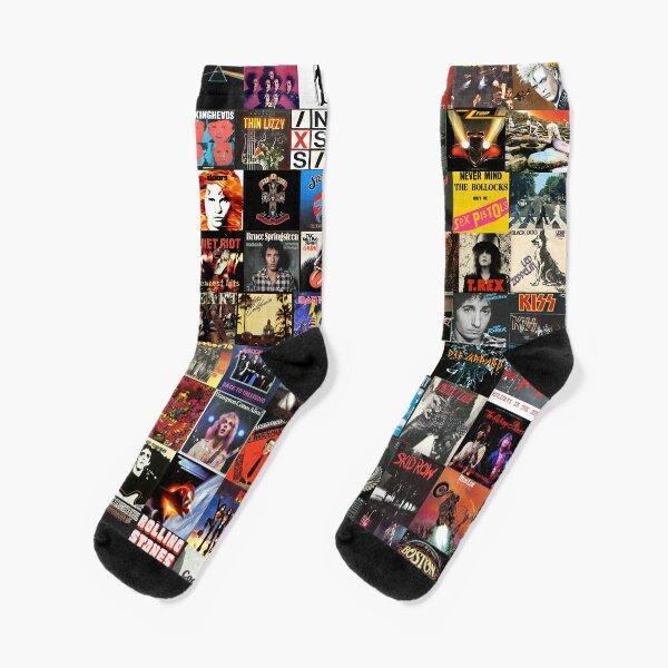 Rock Vinyl Collage  Socks