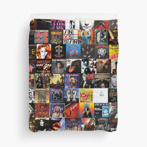Rock Collage Collection Duvet Cover