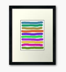 Brush Strokes #2 Veronica Framed Print
