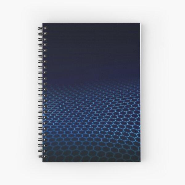 Dark blue abstract future Spiral Notebook
