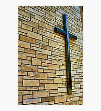 Mounted Cross Photographic Print
