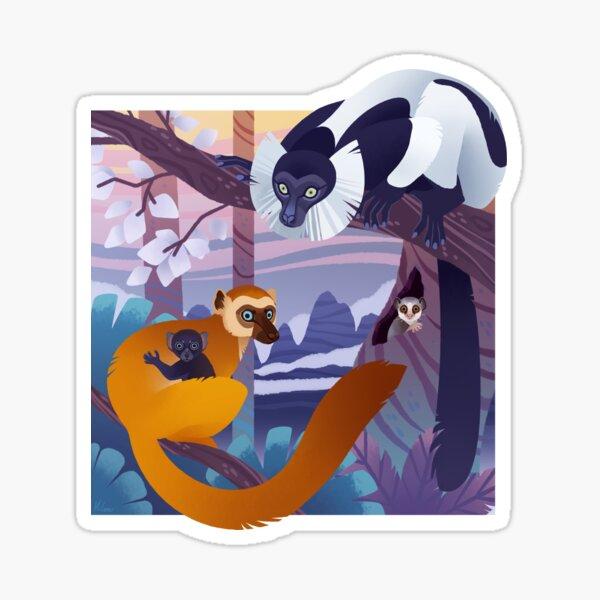 Conspiracy of Lemurs Sticker