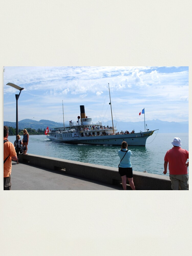 Alternate view of Boat Trip on Lake Leman Photographic Print