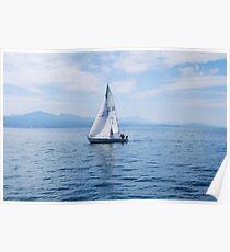 Boating on Lake Leman Poster