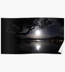 Once in a Blue Moon over Whangaroa Harbour  Poster