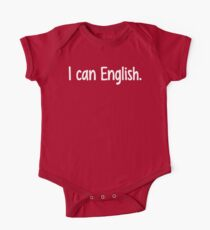 I can English. Kids Clothes