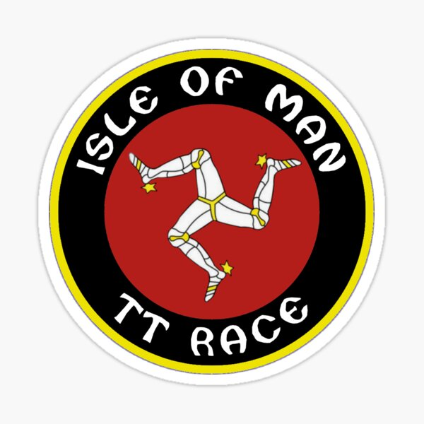 RETRO ISLE OF MAN LOGO 1970 VINTAGE CONCEPTION CIRCULAIRE Sticker
