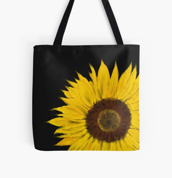 Sunflower All Over Print Tote Bag