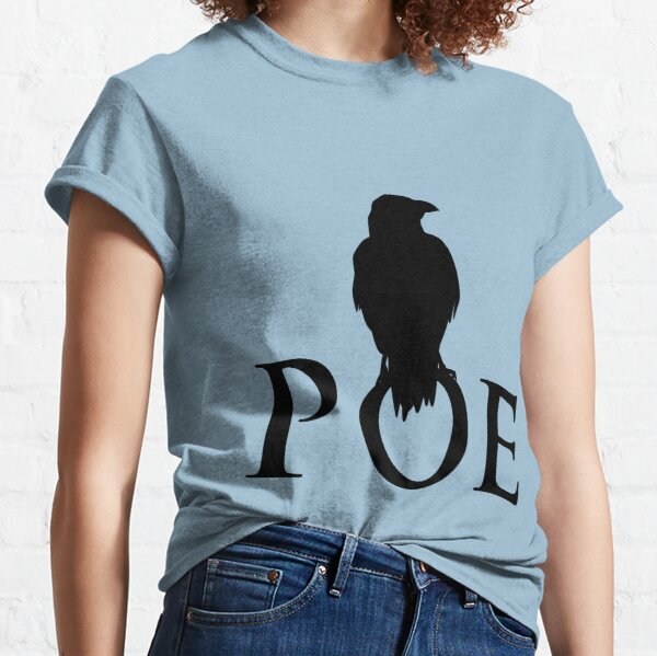The raven sitting on E. A. Poe Classic T-Shirt