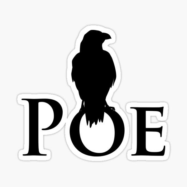 The raven sitting on E. A. Poe Sticker