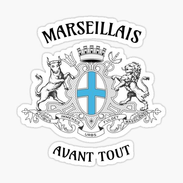 T shirt Marseille OM Marseillais avant tout fun  Sticker