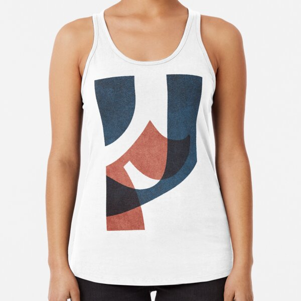 ABSTRACT ALPHABET / Gothic F Racerback Tank Top