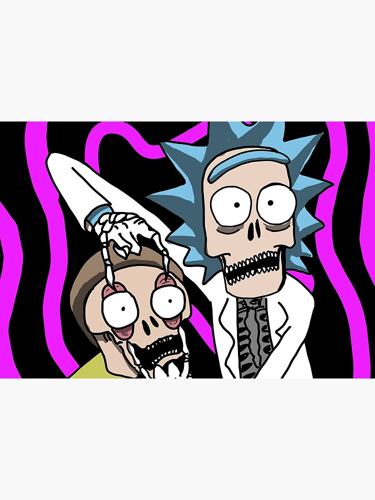 Rick and Morty Skulls by deathanarchy