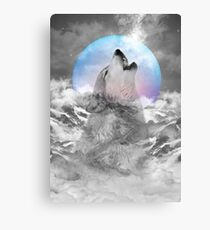 Maybe the Wolf Is In Love with the Moon Canvas Print