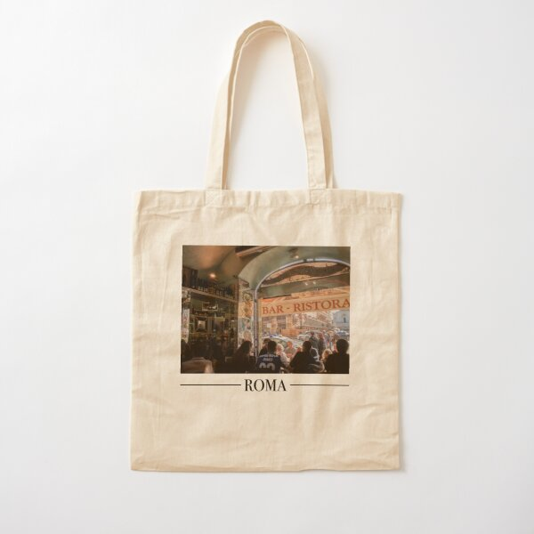 Roma Cafe  - Vibrant Travel Photography  Cotton Tote Bag