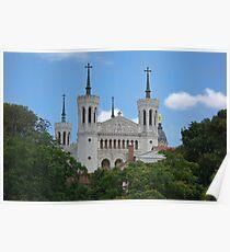 Basilica: Basilique Notre-Dame de Fourviere, Lyon, France Poster