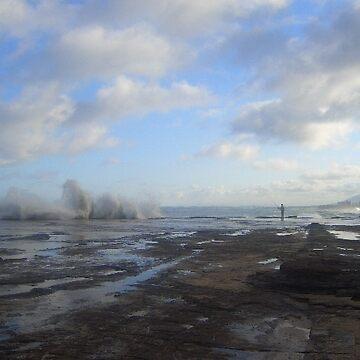 Rock Fishing by Orangemoth