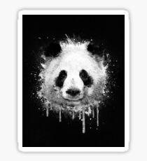 Cool Abstract Graffiti Watercolor Panda Portrait in Black & White  Sticker