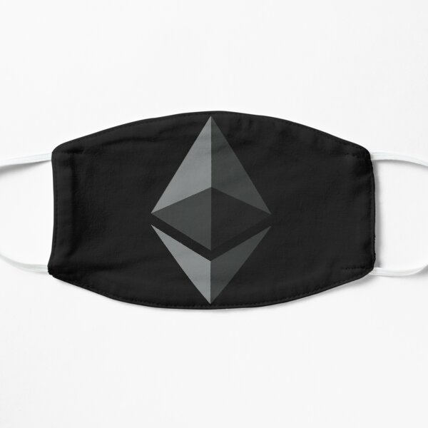 Ethereum on Black Face Mask Flat Mask