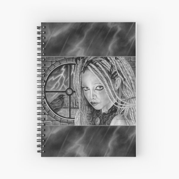 Stormbringer: Original drawing by Dean Sidwell Spiral Notebook