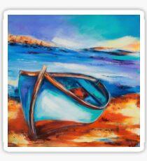 The Blue Boat Sticker