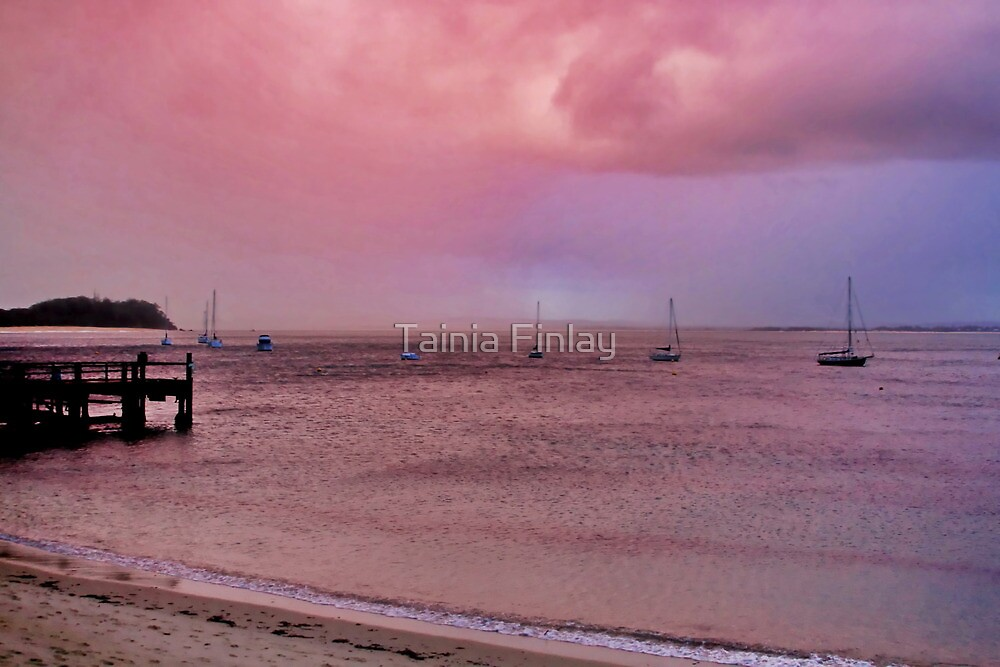 Shoal Bay in Pink by Tainia Finlay