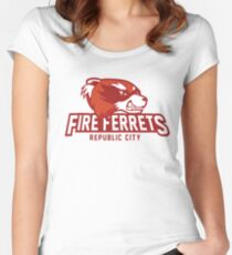 Republic City Fire Ferrets Women's Fitted Scoop T-Shirt