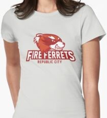 Republic City Fire Ferrets Women's Fitted T-Shirt